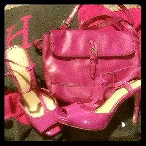 🌺jessica simpson strappy stilettos with purse